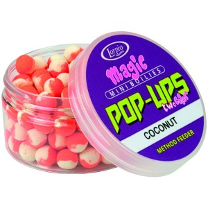 Kulki Lorpio Magic Mini Boilies Pop-Up Two Color | Coconut | 8mm